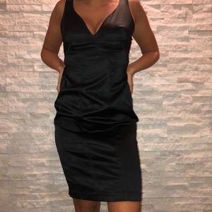 Beautiful black v neck dress